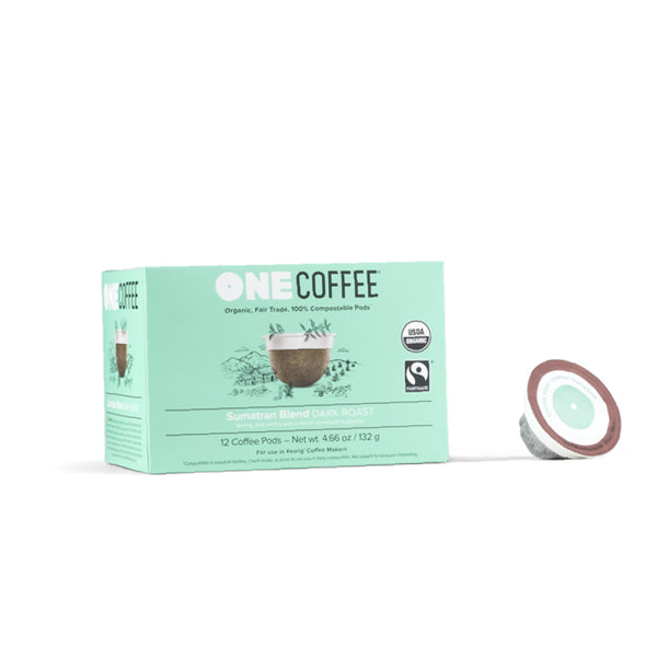 OneCoffee Sumatran Single-Serve Pods (Case of 72)