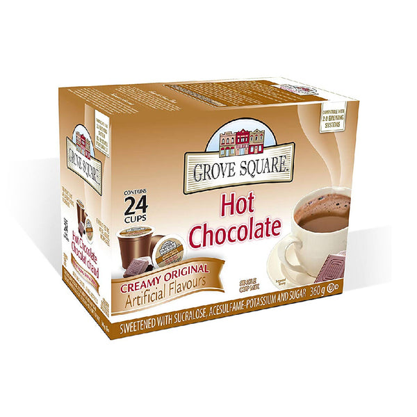 Grove Square Hot Chocolate Single Serve Pods (Box of 24)