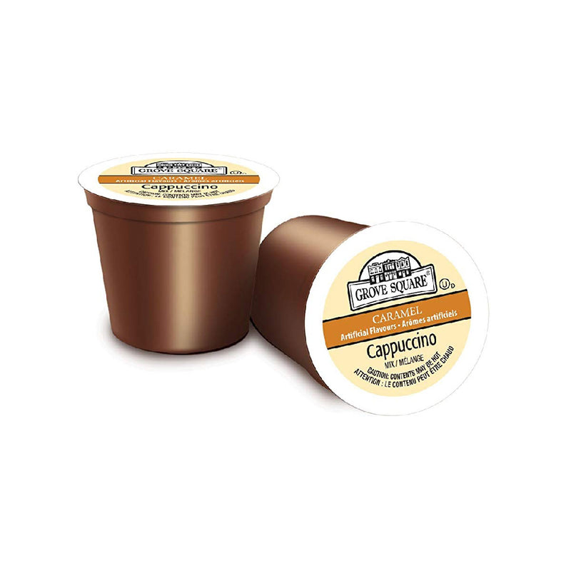Grove Square Caramel Cappuccino Single Serve Coffee Pods (Box of 24)