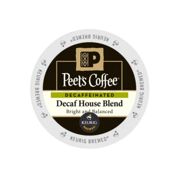 Peet's Coffee Decaf House Blend K-Cup® Pods (Box of 10)