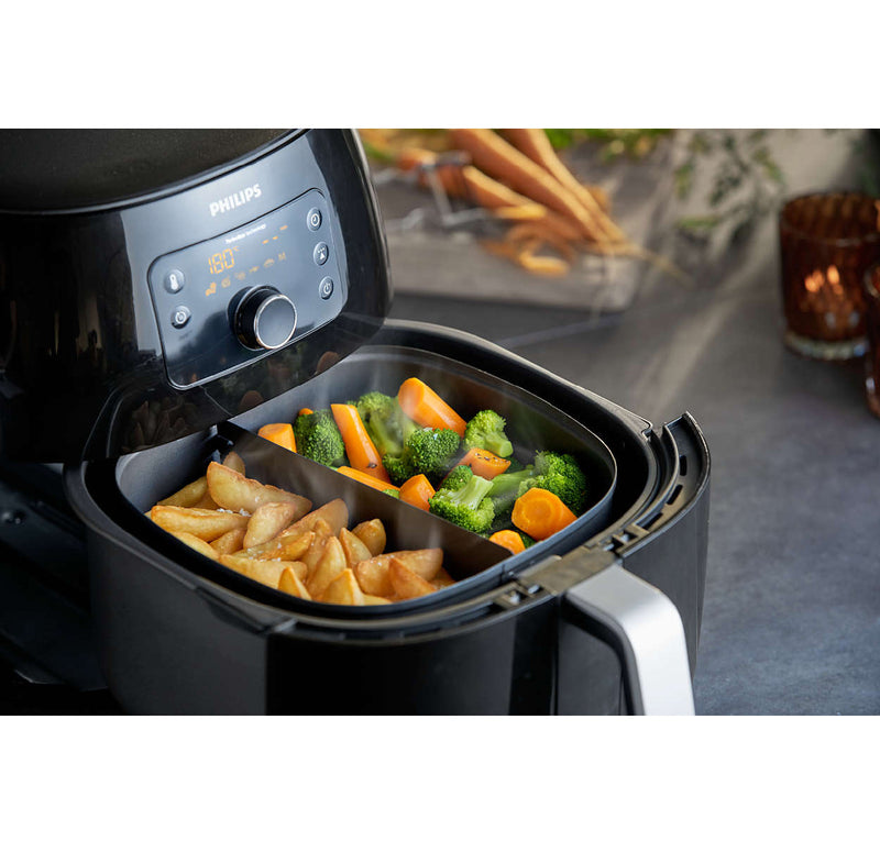 Philips Viva Collection XXL Digital Airfryer With Twin TurboStar Technology HD9650/96 (Black)