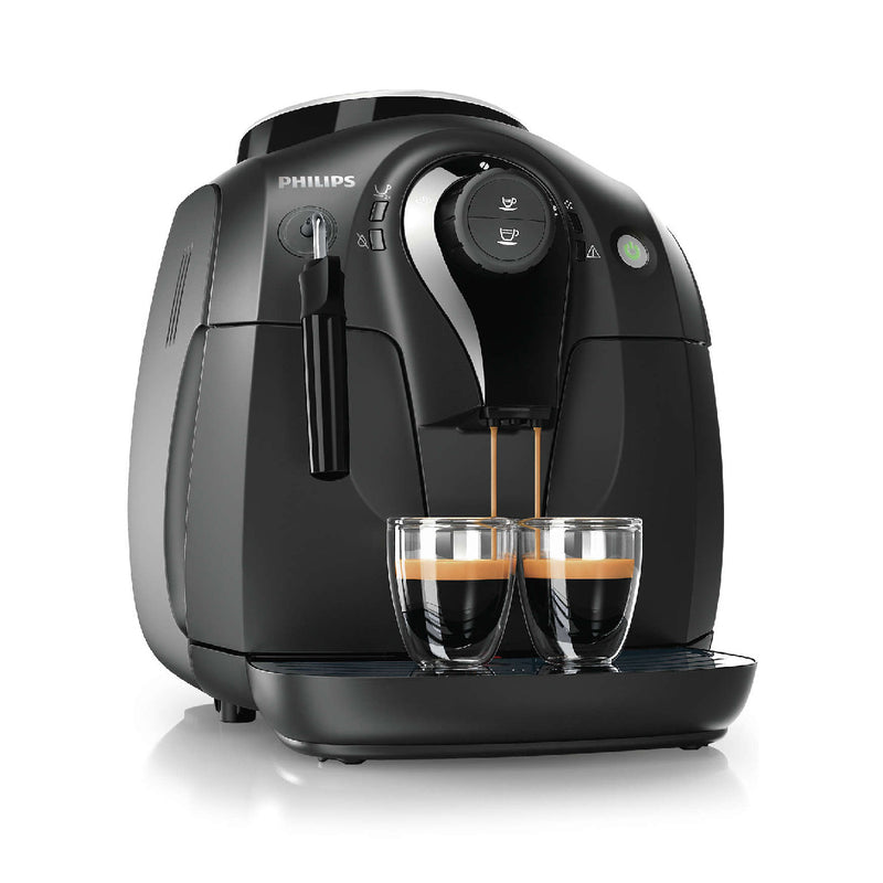 Philips Vapore 2000 Series X-Small Super Automatic Espresso Machine HD8651/1 (Black)