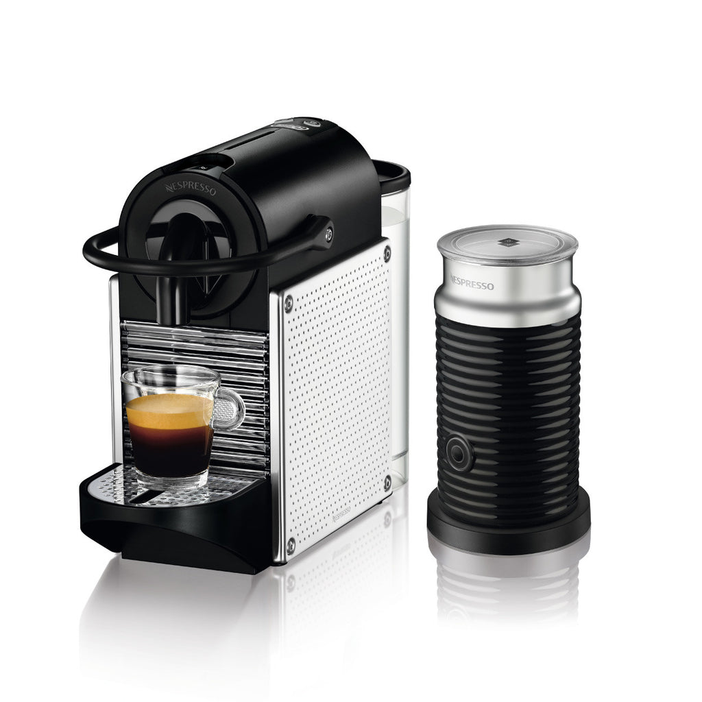 Nespresso by DeLonghi Pixie Brewer with Aeroccino 3 in Aluminium