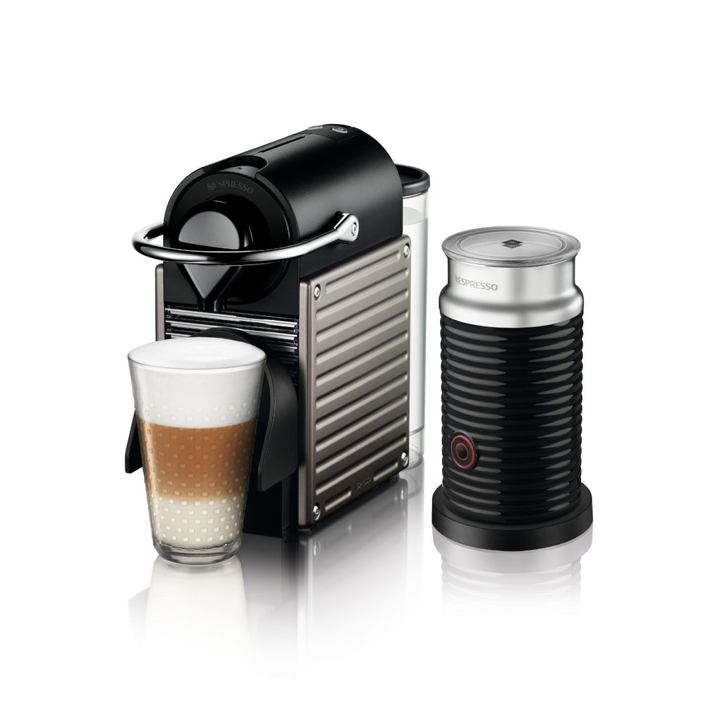 * OFFER * Nespresso by Breville Pixie Brewer with Aeroccino 3 in Titan