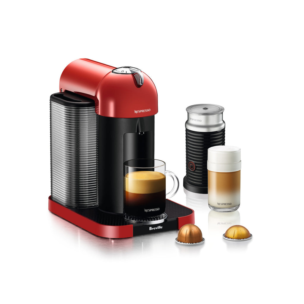 Nespresso by Breville Vertuo with Aeroccino 3 in Red
