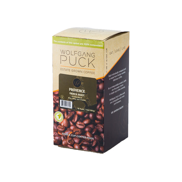 Wolfgang Puck: Provence French Roast Pods (18 Pack)