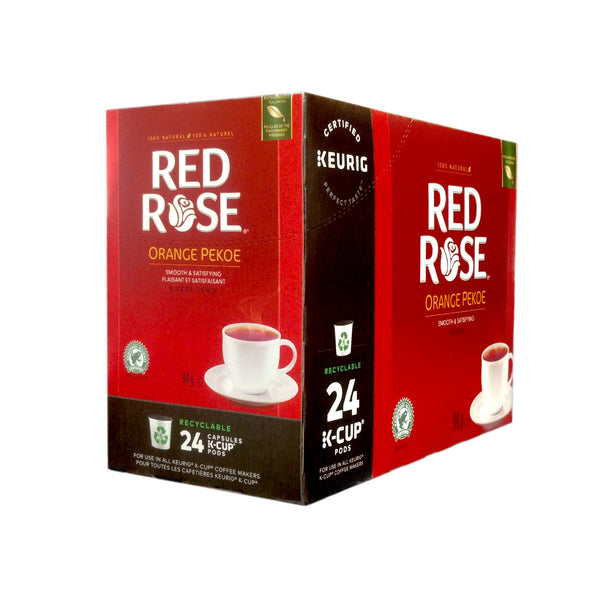 Red Rose Orange Pekoe Tea K-Cup® Recyclable Pods (Box of 24)