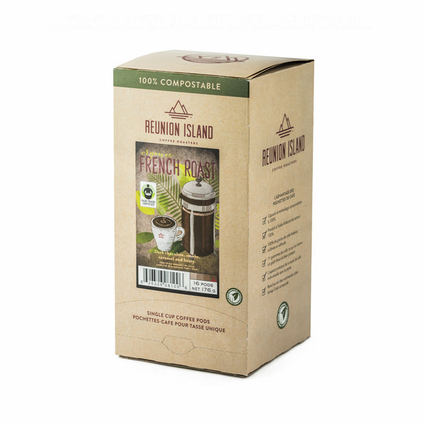Reunion Island Pods: Fair Trade Organic French Roast (16 Pack)