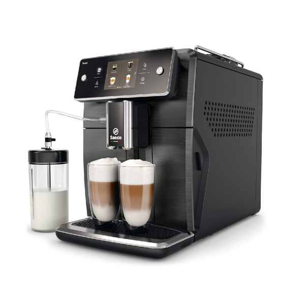 Saeco Xelsis SM7684/04 Super Automatic Coffee & Espresso Machine (Titanium / Black)