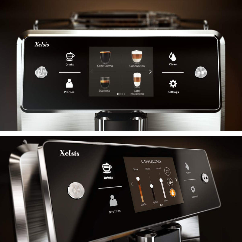 Saeco Xelsis SM7685/04 Super Automatic Espresso Machine (Stainless Steel / Silver)