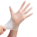 Safeguard Vinyl Disposable Gloves (Case of 1000) - Large