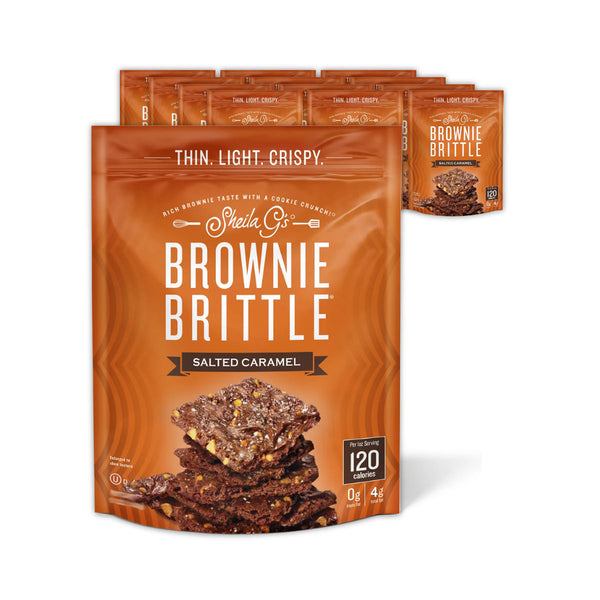 Sheila G's Salted Caramel Brownie Brittle (Case of 12 Bags x 4oz)