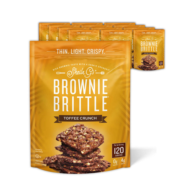 Sheila G's Toffee Crunch Brownie Brittle (Case of 12 Bags x 4oz)