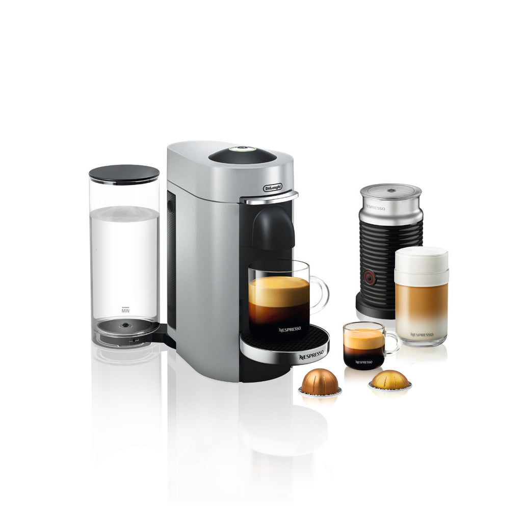 Nespresso by DeLonghi VertuoPlus Deluxe With Aeroccino 3 in Silver