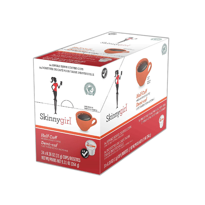 SkinnyGirl Half Caff Single Serve Coffee Pods (Case of 96)