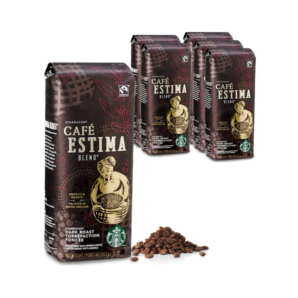 Starbucks Café Estima Blend Coffee Beans (Case of 6x 1lb)