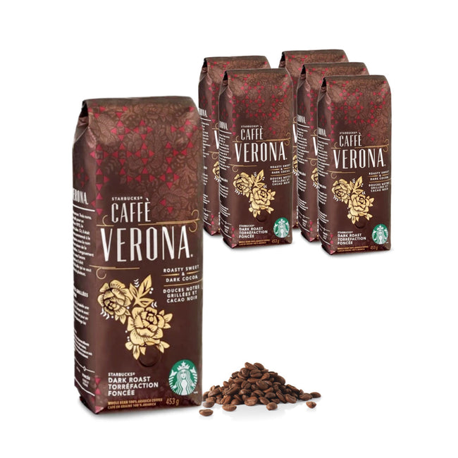 Starbucks Caffe Verona Coffee Beans (Case of 6x 1lb)