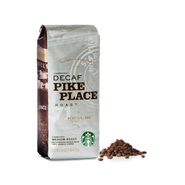 Starbucks Decaf Pike Place Coffee Beans (1lb)