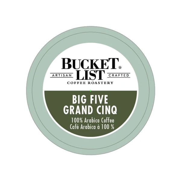 Bucket List Coffee Big Five Single Serve Pods (Case of 96)
