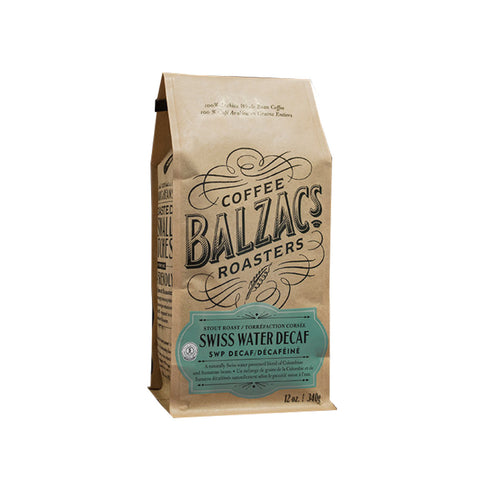 Balzac's Decaf Swiss Water Process Whole Bean Coffee