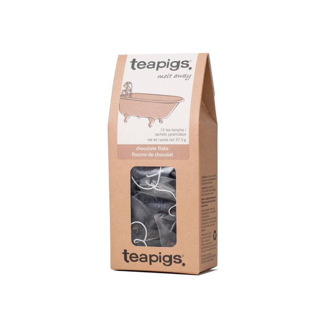 TeaPigs Chocolate Flake Loose Leaf Tea Sachets (Box of 15)