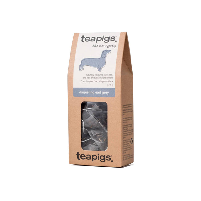 TeaPigs Darjeeling Early Grey Loose Leaf Tea Sachets (Box of 15)