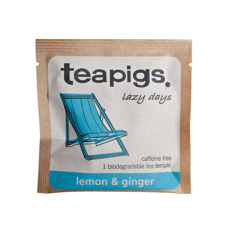 TeaPigs Lemon & Ginger Loose Leaf Tea Sachets (Box of 15)