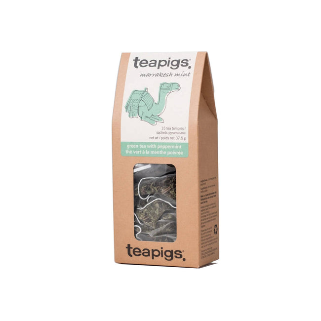 TeaPigs Peppermint Green Loose Leaf Tea Sachets (Box of 15)