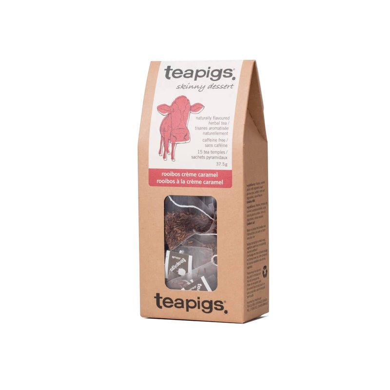TeaPigs Rooibos Creme Caramel Loose Leaf Tea Sachets (Box of 15)