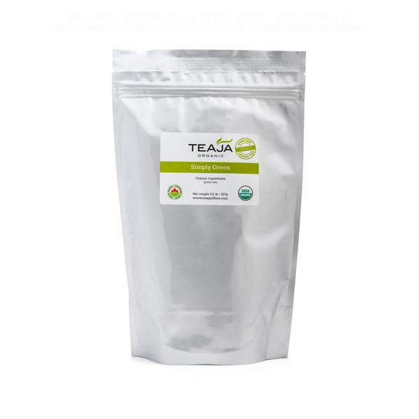 Teaja Loose Leaf Tea Simply Green 0.5lb Bag