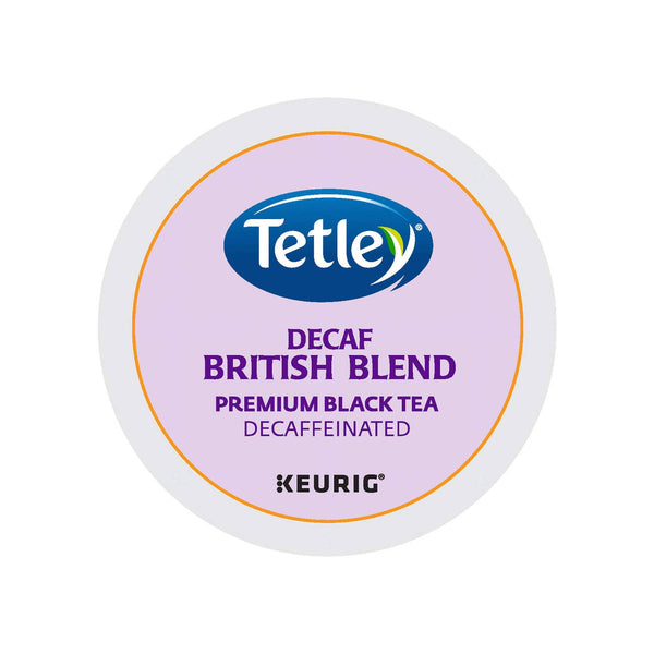 Tetley® British Blend Decaf K-Cup® Recyclable Tea Pods (Box of 24)