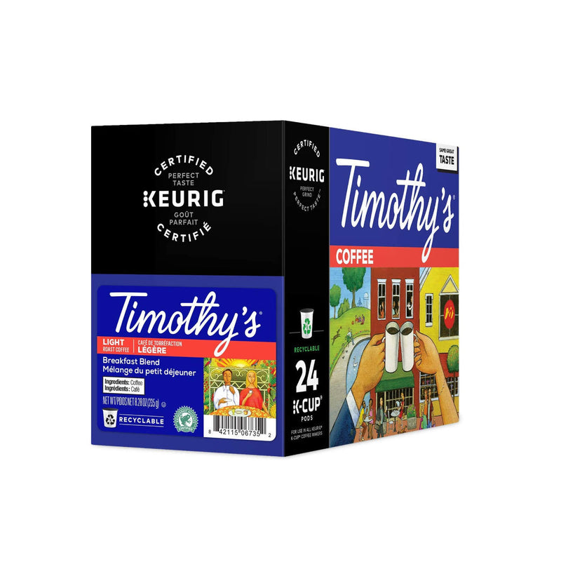 Timothy's Breakfast Blend K-Cup® Recyclable Pods (Box of 24)
