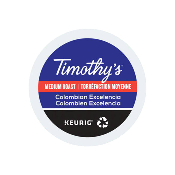 Timothy's Colombian Excelencia K-Cup® Recyclable Pods (Box of 24)