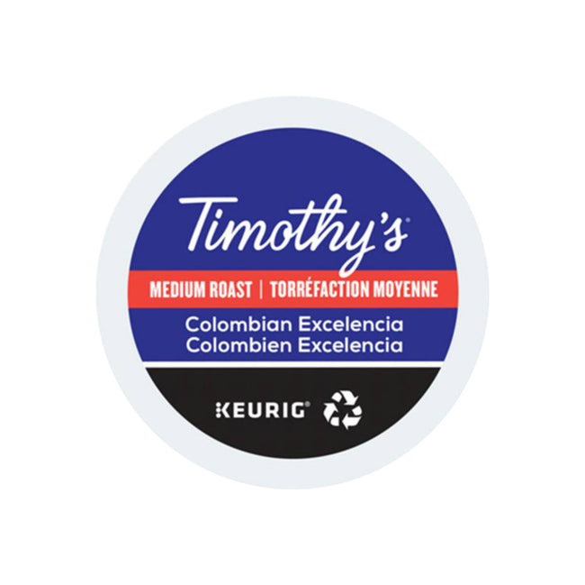 Timothy's Colombian Excelencia K-Cup® Recyclable Pods (Case of 96)