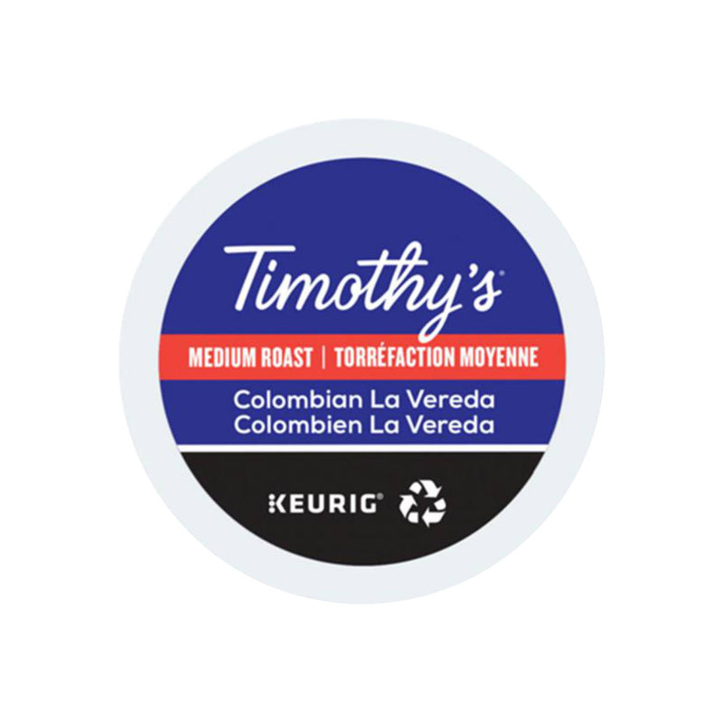Timothy's Colombian La Vereda K-Cup® Recyclable Pods (Case of 96)