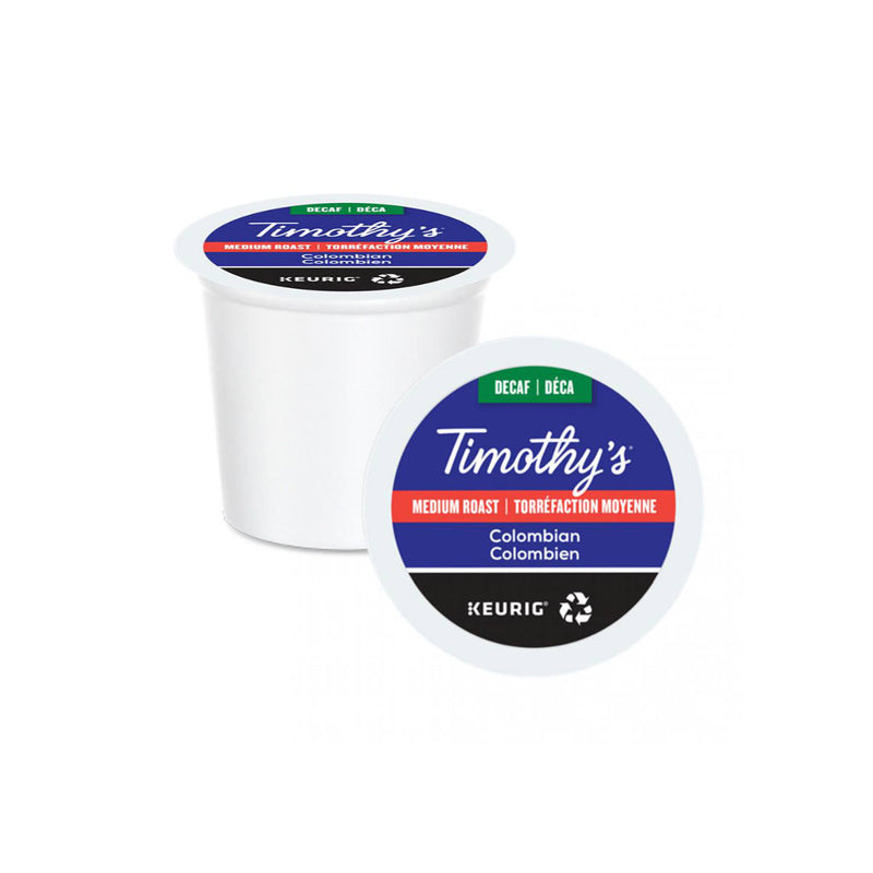 Timothy's Decaffeinated Colombian K-Cup® Recyclable Pods (Box of 24)