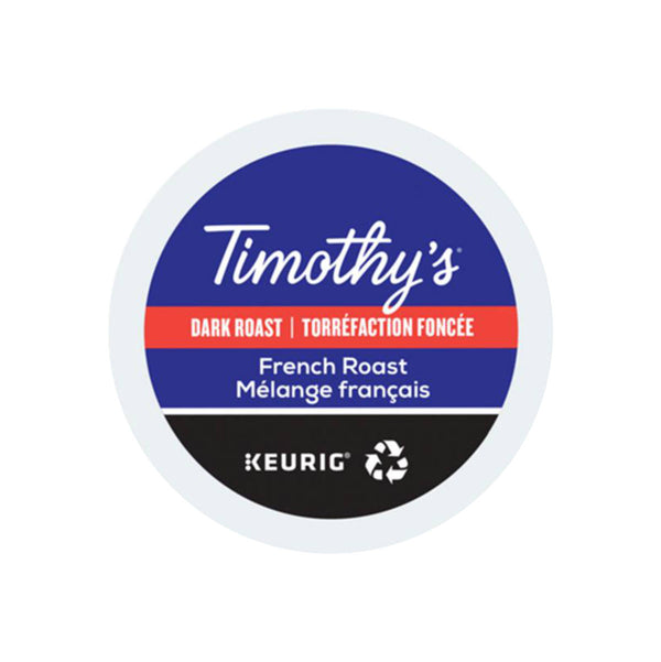 Timothy's French Roast K-Cup® Recyclable Pods (Box of 24)