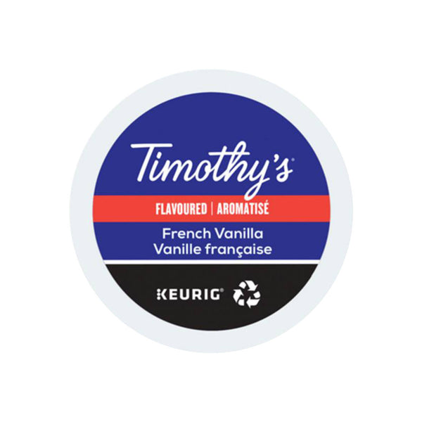 Timothy's French Vanilla K-Cup® Recyclable Pods (Case of 96)