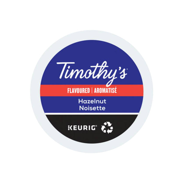 Timothy's Hazelnut K-Cup® Recyclable Pods (Case of 96)