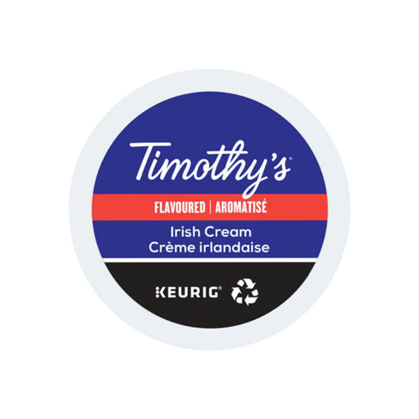 Timothy's Irish Cream K-Cup® Recyclable Pods (Case of 96)