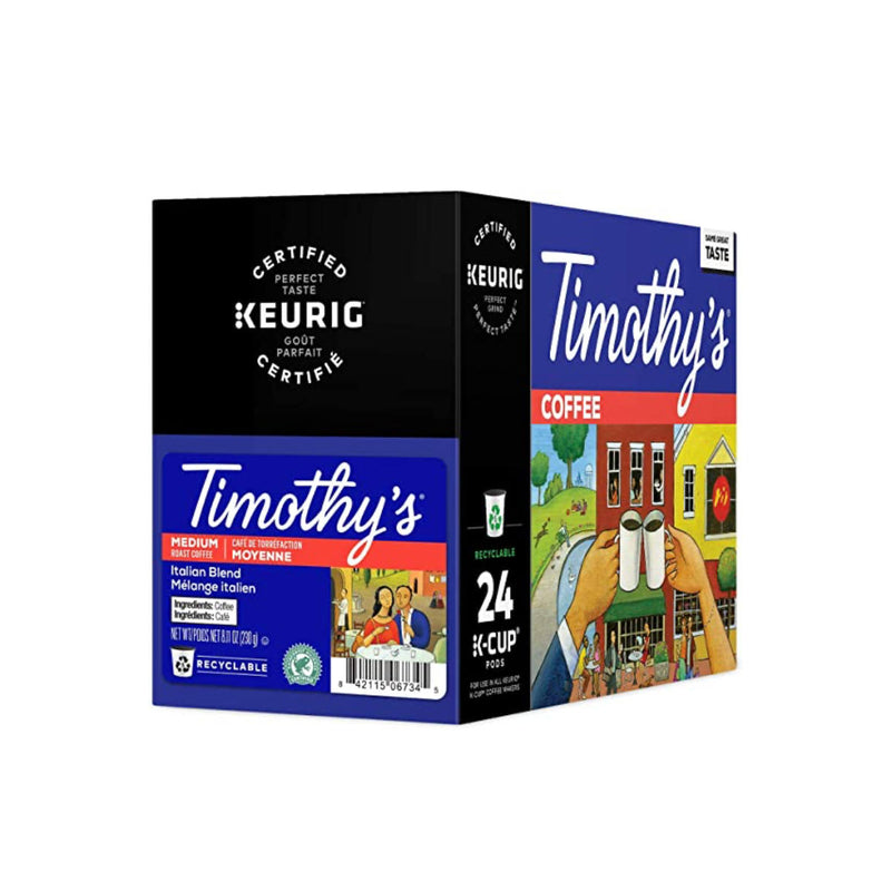 Timothy's Italian Roast K-Cup® Recyclable Pods (Case of 96)