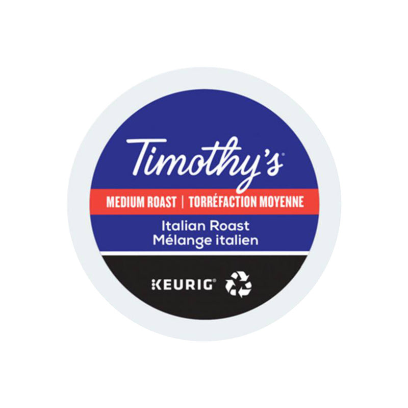 Timothy's Italian Roast K-Cup® Recyclable Pods (Box of 24)