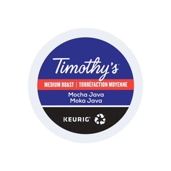 Timothy's Mocha Java K-Cup® Recyclable Pods (Box of 24)