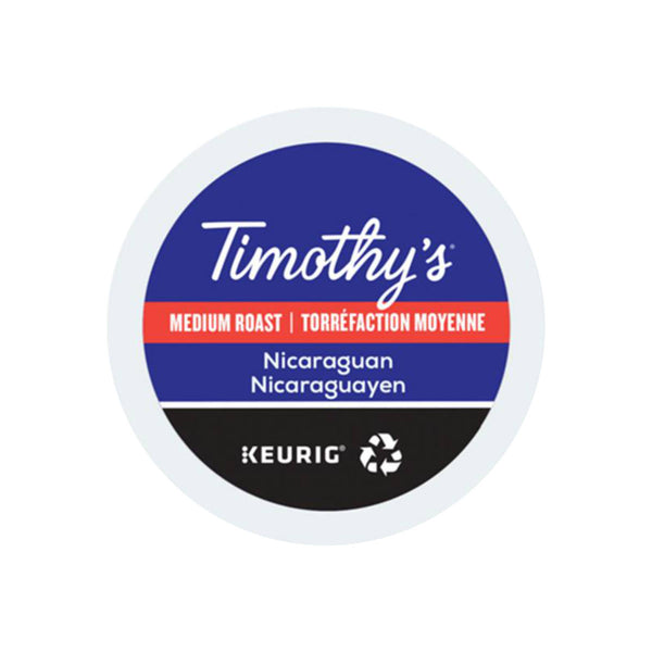 Timothy's Nicaraguan  K-Cup® Recyclable Pods (Box of 24)