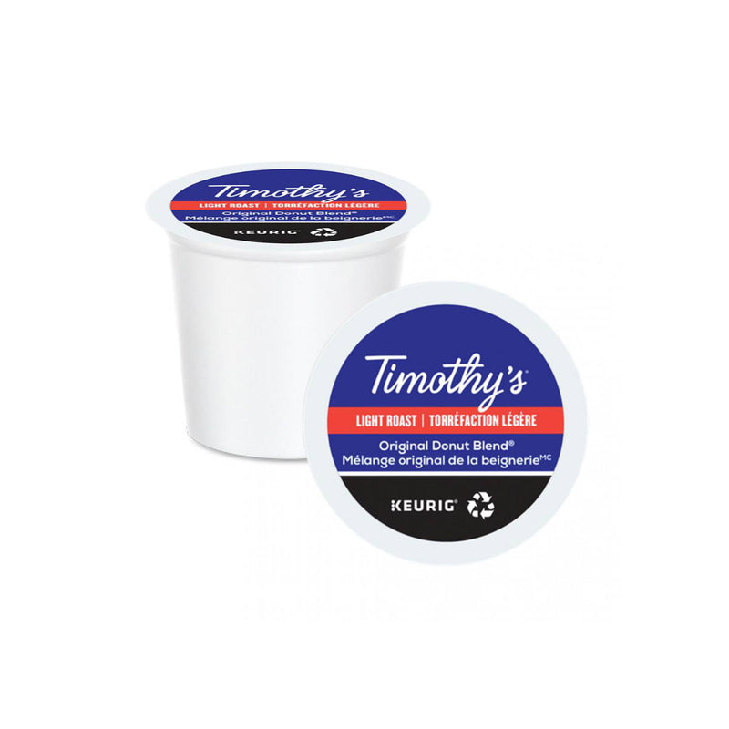 Timothy's Original Donut Shop Blend K-Cup® Recyclable Pods (Case of 96)