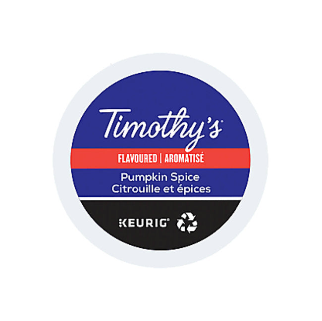 Timothy's Pumpkin Spice K-Cup Recyclable Pods (Case of 96)