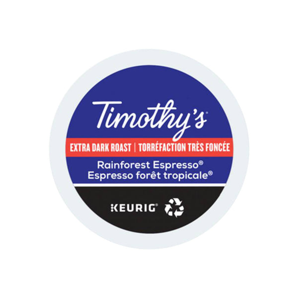 Timothy's Rainforest Espresso K-Cup® Recyclable Pods (Box of 24)