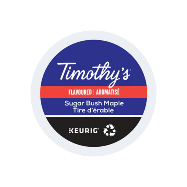 * SEASONAL * Timothy's Sugar Bush Maple K-Cup® Pods (Case of 96)