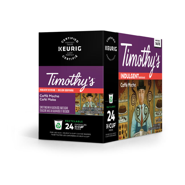 Timothy's Indulgence Caffè Mocha K-Cup® Recyclable Pods (Case of 96)