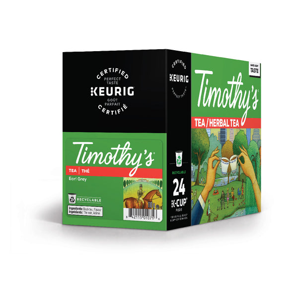 Timothy's Earl Grey Tea K-Cup® Recyclable Pods (Box of 24)